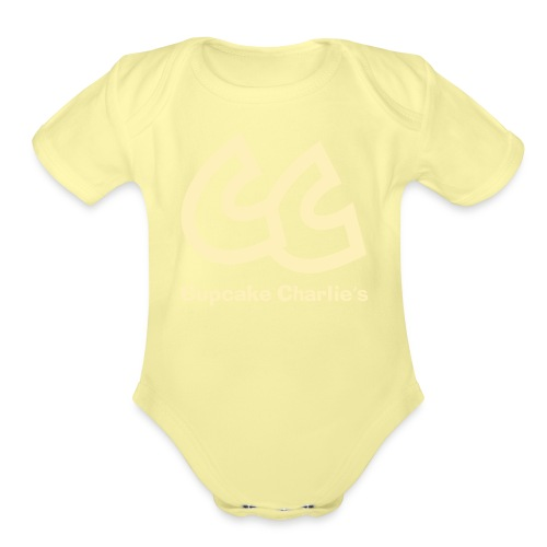 CC Name large - Organic Short Sleeve Baby Bodysuit