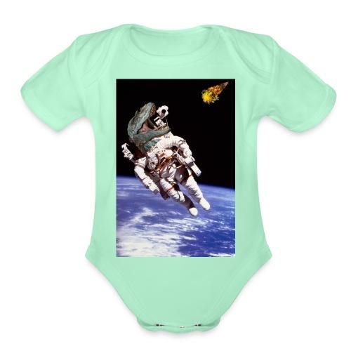 how dinos died - Organic Short Sleeve Baby Bodysuit