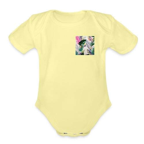 Organic Short Sleeve Baby Bodysuit - Km,Merch,Kb