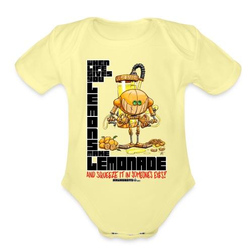Lemonade Robot!🍋 - Organic Short Sleeve Baby Bodysuit