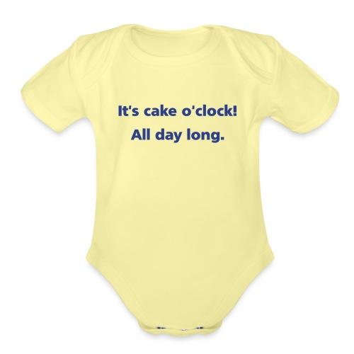 cakeoclock simple - Organic Short Sleeve Baby Bodysuit