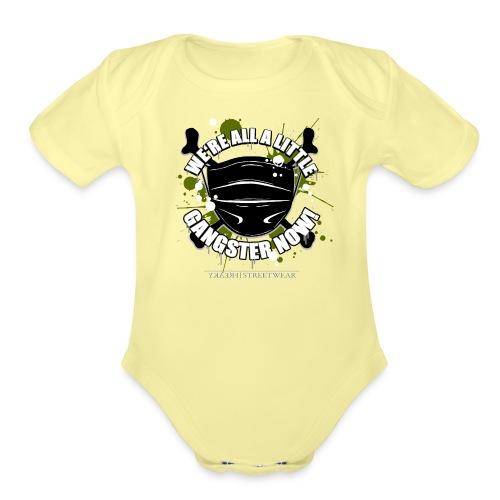 Covid Gangster - Organic Short Sleeve Baby Bodysuit