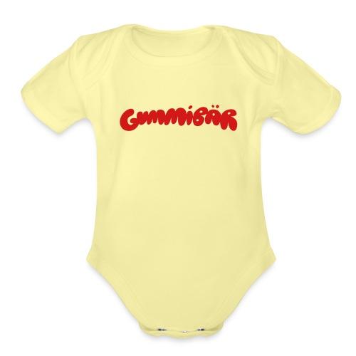 Gummibär Logo - Organic Short Sleeve Baby Bodysuit