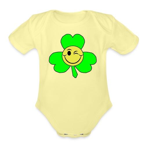 smileyclover - Organic Short Sleeve Baby Bodysuit