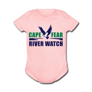 Cape Fear River Watch Logo - Short Sleeve Baby Bodysuit