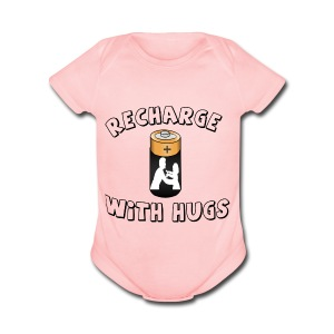 Recharge with hugs - Short Sleeve Baby Bodysuit