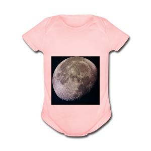 Moon - Short Sleeve Baby Bodysuit