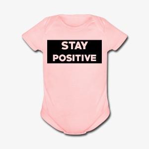 Stay Positive (Black Box) - Short Sleeve Baby Bodysuit