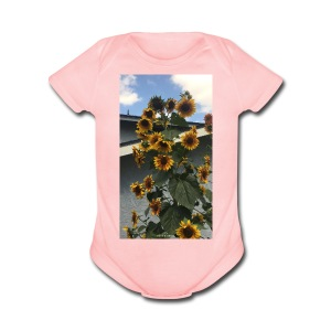 sunflower shirt - Short Sleeve Baby Bodysuit