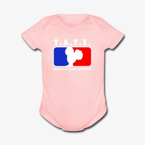 Touch All Teach Everyone Afro Puffs Logo - Short Sleeve Baby Bodysuit