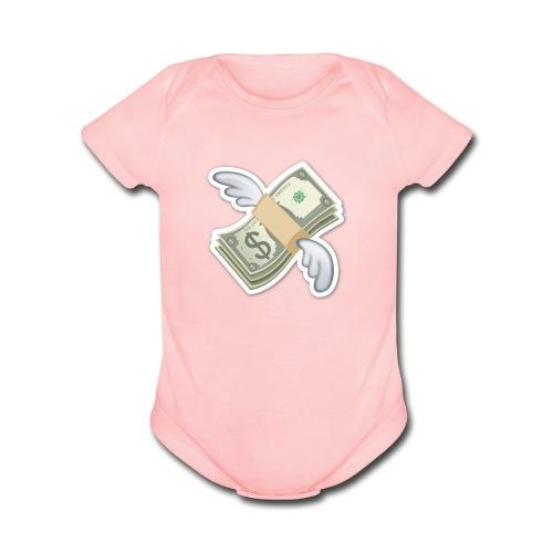 Money With Wings - Organic Short Sleeve Baby Bodysuit