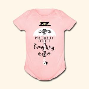 Practically Simple - Short Sleeve Baby Bodysuit