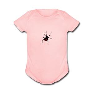 TrepidationNation Small Spider - Short Sleeve Baby Bodysuit