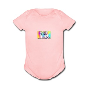 Rainbow Tiger Design Cases - Short Sleeve Baby Bodysuit