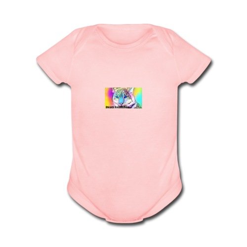 Rainbow Tiger Design Cases - Organic Short Sleeve Baby Bodysuit