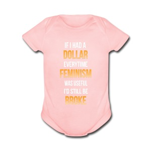 Even more broke - Short Sleeve Baby Bodysuit