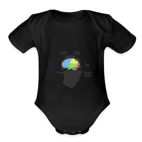 Corbin YT brain diagram - Organic Short Sleeve Baby Bodysuit