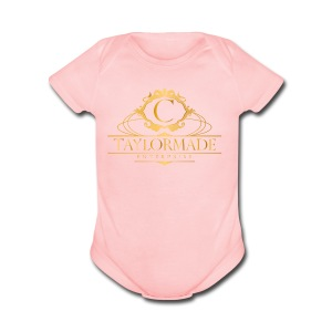 cTaylorMade White T-Shirt - Short Sleeve Baby Bodysuit