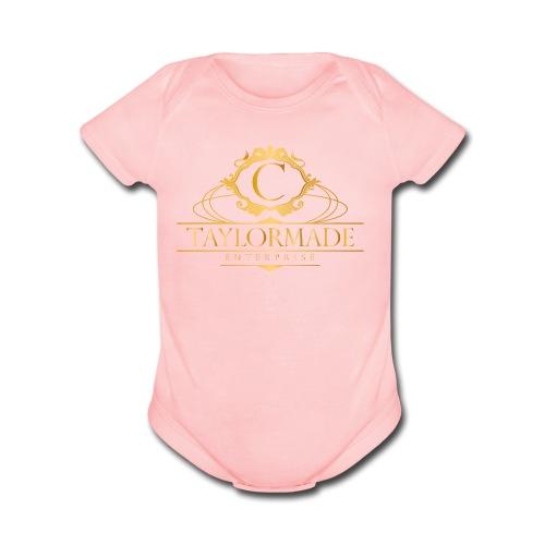 cTaylorMade White T-Shirt - Organic Short Sleeve Baby Bodysuit