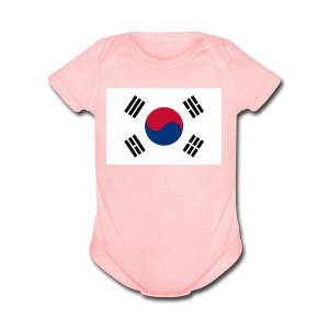 Flag of South Korea - Short Sleeve Baby Bodysuit