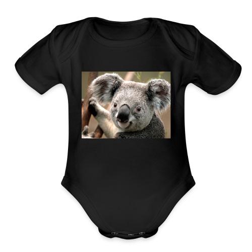 Koala - Organic Short Sleeve Baby Bodysuit