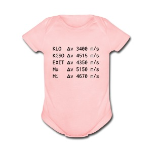 In-System Delta-V Cheatsheet - Short Sleeve Baby Bodysuit
