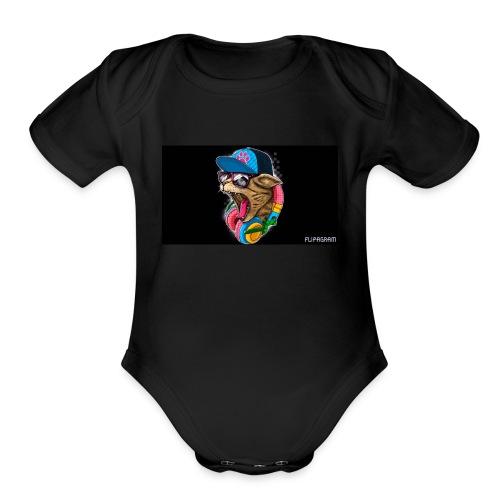 FLIPGRAM - Organic Short Sleeve Baby Bodysuit
