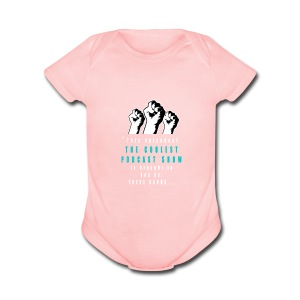 THESE_HANDS_FRONT_1-11_LARGE - Short Sleeve Baby Bodysuit