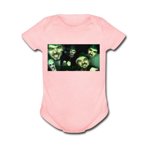 Antisepticeye Picture Clothing - Organic Short Sleeve Baby Bodysuit