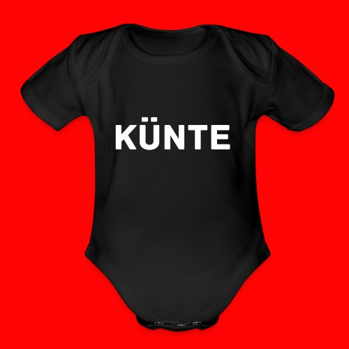 künte side - Organic Short Sleeve Baby Bodysuit