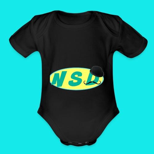NotSoDapper logo - Organic Short Sleeve Baby Bodysuit
