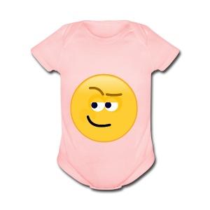 Smirk - Short Sleeve Baby Bodysuit