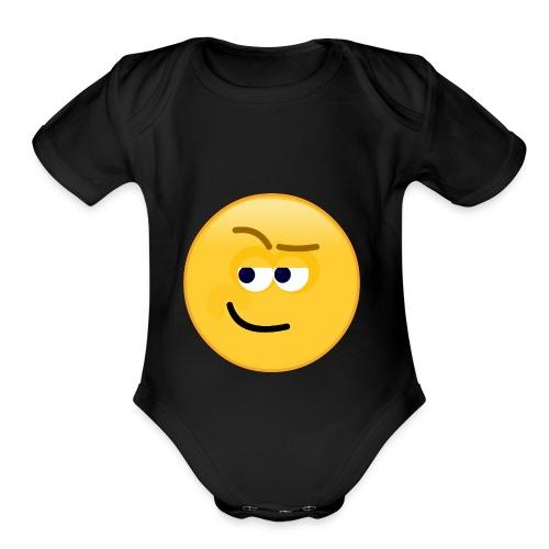Smirk - Organic Short Sleeve Baby Bodysuit