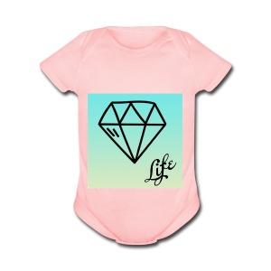 diamond life - Short Sleeve Baby Bodysuit