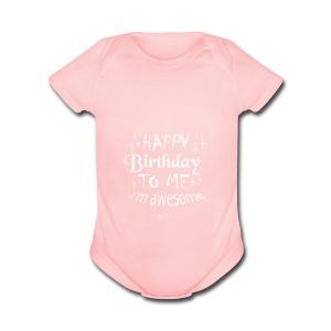 Awesome - Short Sleeve Baby Bodysuit
