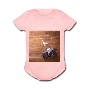 photography quote - Short Sleeve Baby Bodysuit