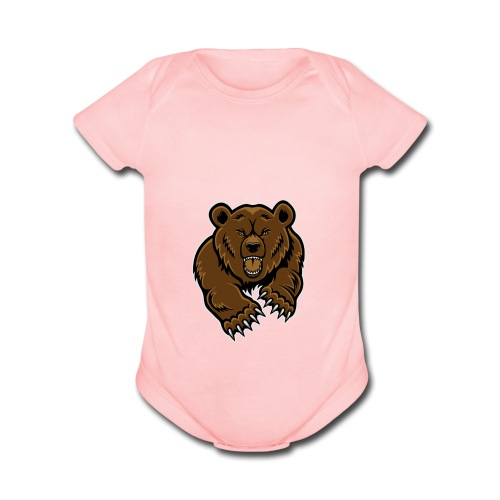 Grizzly Vlogs - Organic Short Sleeve Baby Bodysuit