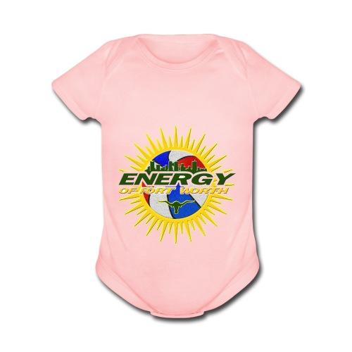 The Energy of Fort Worth Texas - Organic Short Sleeve Baby Bodysuit
