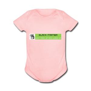 BLACK MAMBA - Short Sleeve Baby Bodysuit