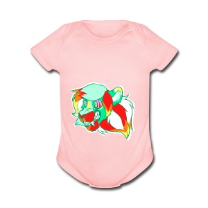 Psychedelic Lion - Short Sleeve Baby Bodysuit