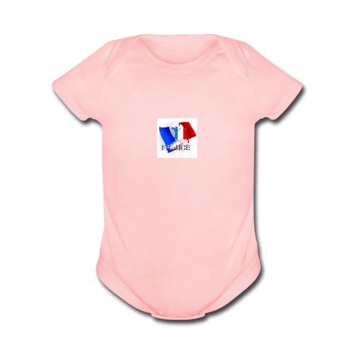 PARIS! - Organic Short Sleeve Baby Bodysuit
