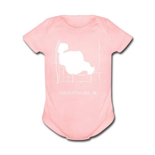 Houghton Lake, MI - Organic Short Sleeve Baby Bodysuit