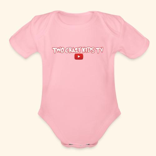 Crazy Kids Name with youtube Logo - Organic Short Sleeve Baby Bodysuit