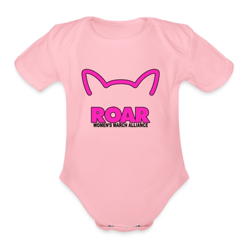 Roar Womens March Alliance - Organic Short Sleeve Baby Bodysuit