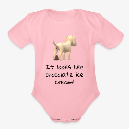 Poop or Chocolate Ice Cream? - Organic Short Sleeve Baby Bodysuit
