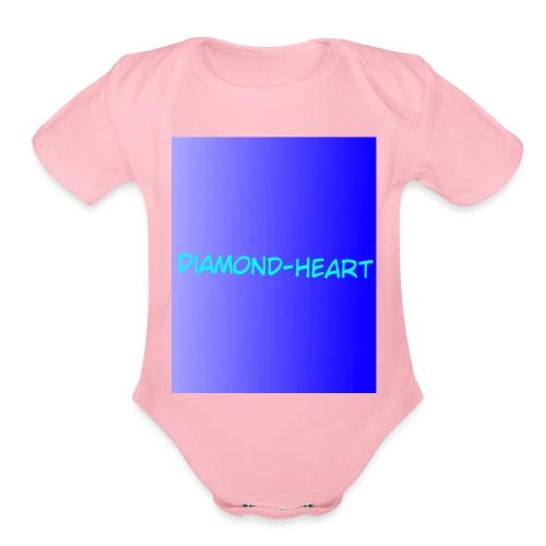 DiamondHeartmerch2 - Organic Short Sleeve Baby Bodysuit