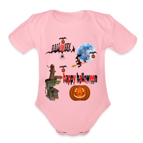 Happy Halloween and celebrate the occasion - Organic Short Sleeve Baby Bodysuit