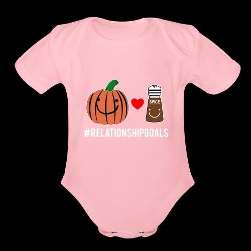 Relationship Goals   Pumpkin Spice Love - Organic Short Sleeve Baby Bodysuit