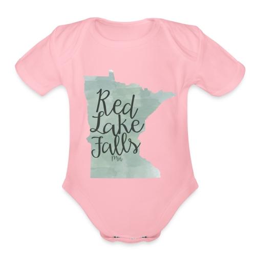Red Lake Falls Long Sleeve Shirt - Organic Short Sleeve Baby Bodysuit