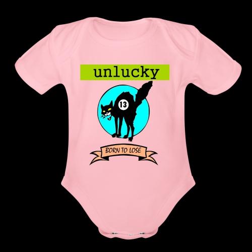 UNLUCKY - Organic Short Sleeve Baby Bodysuit